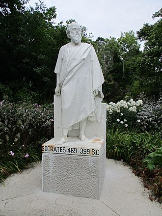 Statue of Socrates in the Irish National Botanic Gardens Socrates Botanic Gardens 1.jpg