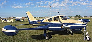 Cessna 310 - Cessna 310D with early rounded nose and 'tuna' style wingtip fuel tanks