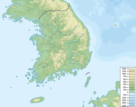 Hallasan is located in South Korea
