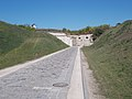 South entry road, Fort Monostor in Komárom, Komárom-Esztergom County, Hungary.jpg