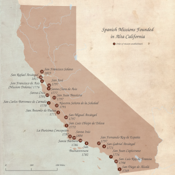 mission maps spanish California trails