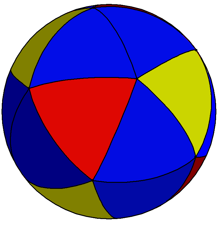 Spherical snub tetrahedron