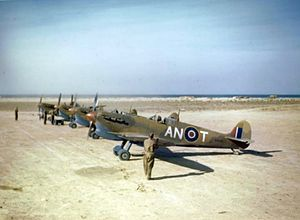 417 Combat Support Squadron - Image: Spitfire V Cs 417 Sqn RCAF in Tunisia 1943