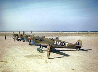 417 Combat Support Squadron - Image: Spitfire V Cs 417 Sqn RCAF in Tunisia 1943