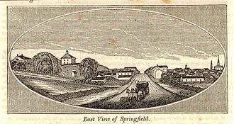 Springfield, Ohio - Image: Springfield Ohio c 1830