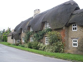 Longworth - Squirrel Cottage on Hinton Road, south of the village