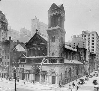 St. Bartholomew's Episcopal Church (Manhattan) - Image: St. Bartholomew's Church (1876) crop