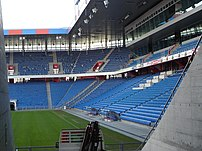 Inner view of the St. Jakob-Park (FC Basel stadium).