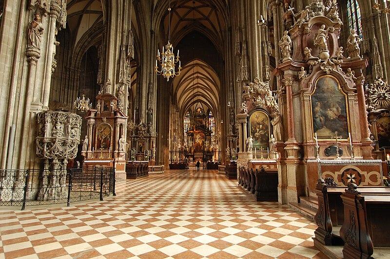 St Stephens Cathedral interior, Vienna