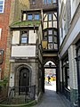 St Bartholomew-the-Great gatehouse rear, City of London, England.jpg