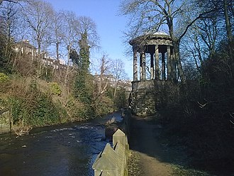 Water of Leith - St Bernard's Well sits alongside the Water of Leith in the Stockbridge area, with Comely Bank opposite