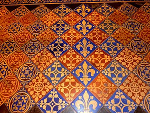 Encaustic tile - Victorian English Gothic Revival tiles