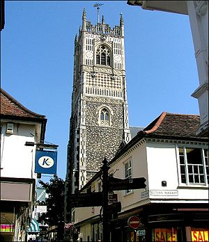 St Lawrence Church, Ipswich - The tower of St Lawrence