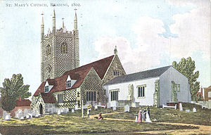 Reading Minster - Image: St Mary's Church, Reading, 1800 1809