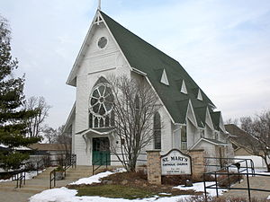 St. Mary's Catholic Church in the small town o...
