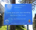 St Peter's Church, Beales Lane, Wrecclesham (May 2015) (Sign).jpg