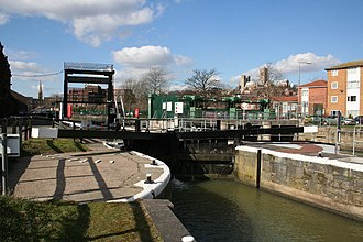 Lincs FM - Stamp End lock next to the radio station
