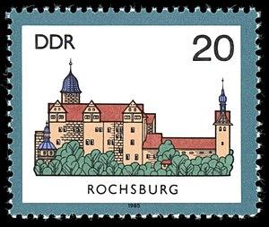 Rochsburg Castle - East German postage stamp