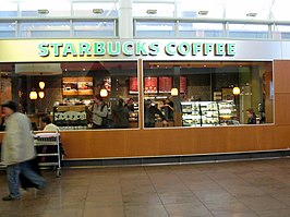 Starbuckswinkel in Brussels Airport