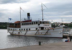 Lake Päijänne - Steamboat SS Suomi in Jyväskylä harbour.