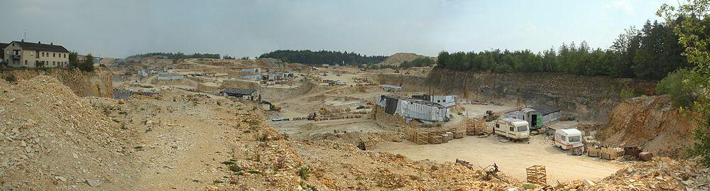 Steinbruch Solnhofen im Mai 2004