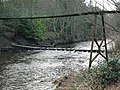 Stepping Stones and Private Suspension Bridge Over The Wansbeck At Bothal - geograph.org.uk - 712712.jpg