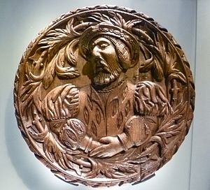 Scottish art - One of the Stirling Heads showing James V