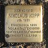 Stolperstein Mainzer Landstrasse 137 für Nikolaus Kopp