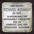 Stolperstein.Friedrichshagen.Aßmannstraße 46.Richard Aßmann.1316.jpg