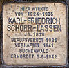 Stolperstein für Karl-Friedrich Schorr-Lassen