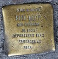 Stolperstein Badstr 64 (Gesbr) Ruth Hopp.jpg