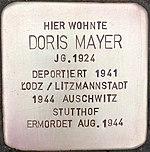 Stolperstein für Doris Mayer (Bruchstraße 31)