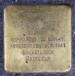 Stolperstein hauptstr 110 (schön) tamara jaffe