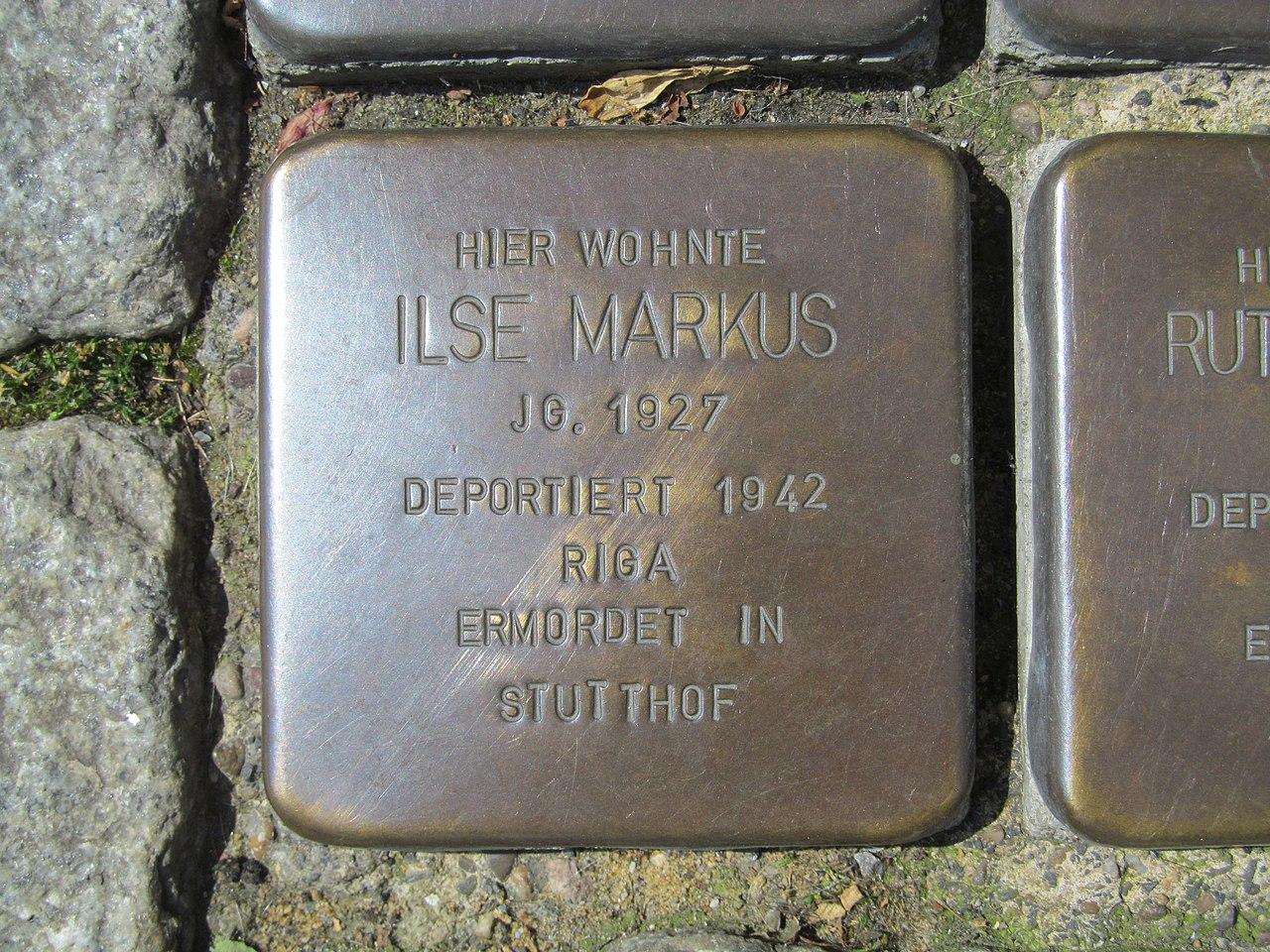 der Stolperstein für Ilse Markus