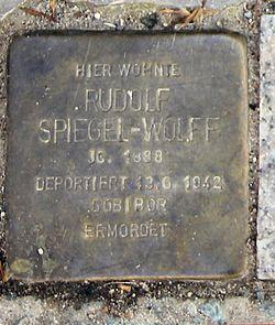 Photo of Rudolf Spiegel-Wolff brass plaque