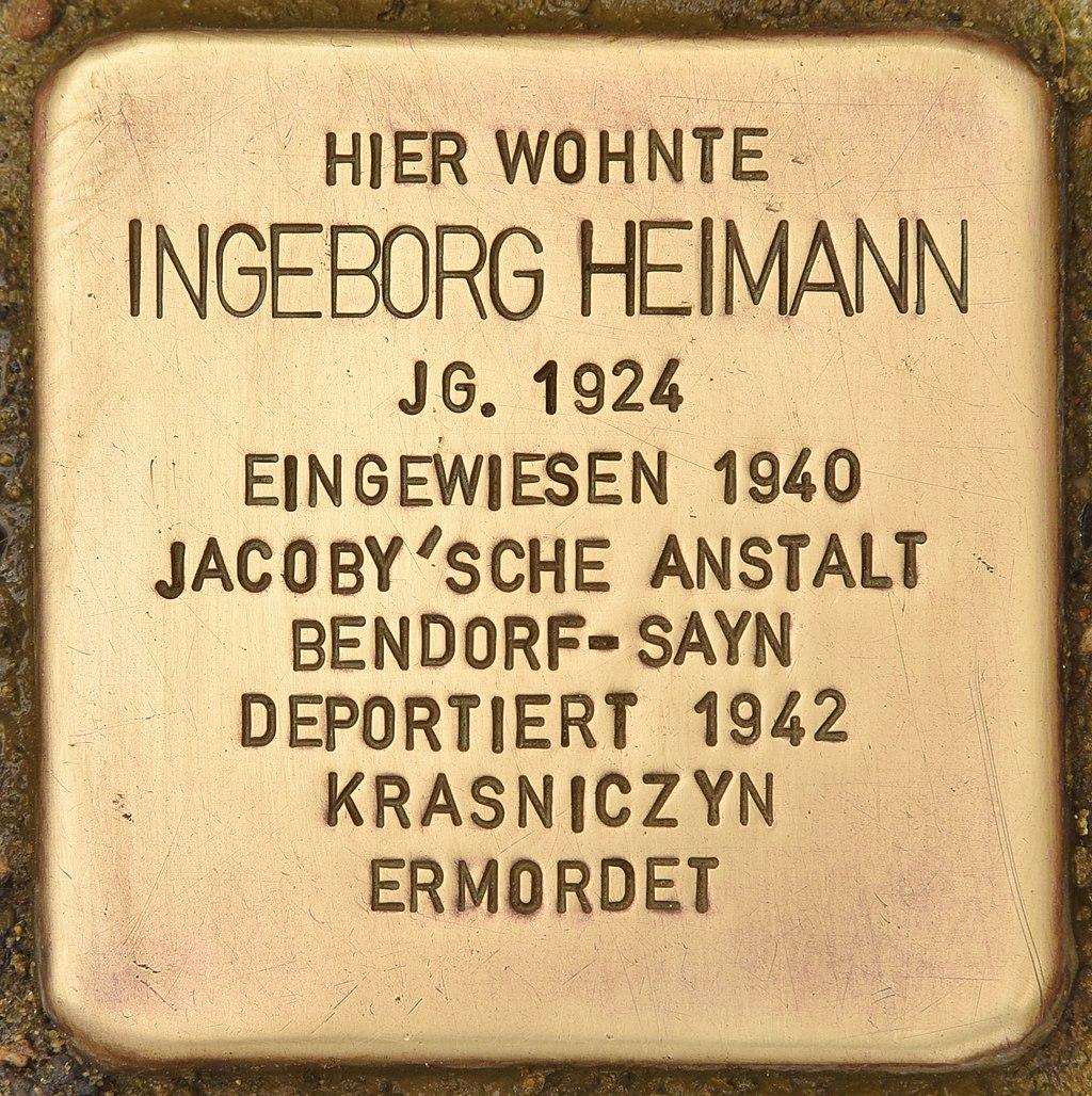 Stolperstein für Ingeborg Heimann (Montabaur).jpg