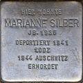 Stumbling block for Marianne Silber (Agrippastraße 10)