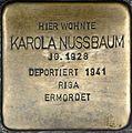 Stolpersteine Würzburg, Karola Nussbaum (Domstraße 68).jpg
