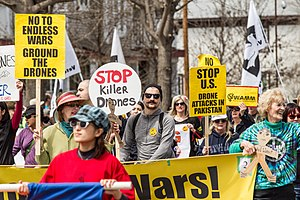 Drone strikes in Pakistan - Minneapolis anti-war protest: 'Stop Killer Drones', 5 May 2013