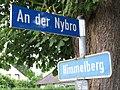 Straßenschild An der Nybro und Himmelberg, Tastrup 2014.jpg