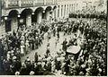 Stražniki razganjajo demonstrante pred hotelom Union v Ljubljani ob 60 letnici Antona Korošca leta 1932.jpg