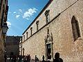 Stradun i església del convent dels franciscans de Dubrovnik.JPG