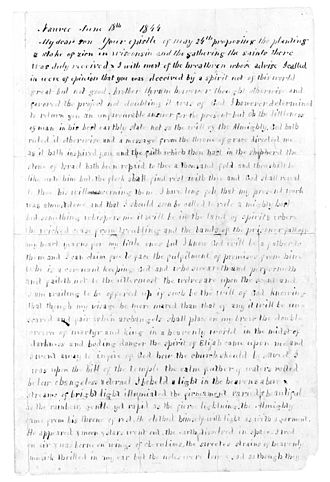 Church of Jesus Christ of Latter Day Saints (Strangite) -  Page one of Strang's Letter of Appointment.