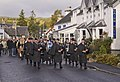 Strathspey Pipe band pass the Cairn hotel Carrbridge - geograph.org.uk - 1549866.jpg