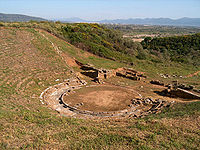 Stratos, Etolia Acarnania, Greece - Ancient theater.jpg