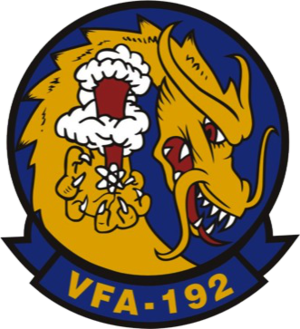 Carrier Air Wing Two - Image: Strike Fighter Squadron 192 (US Navy) insignia c 1985