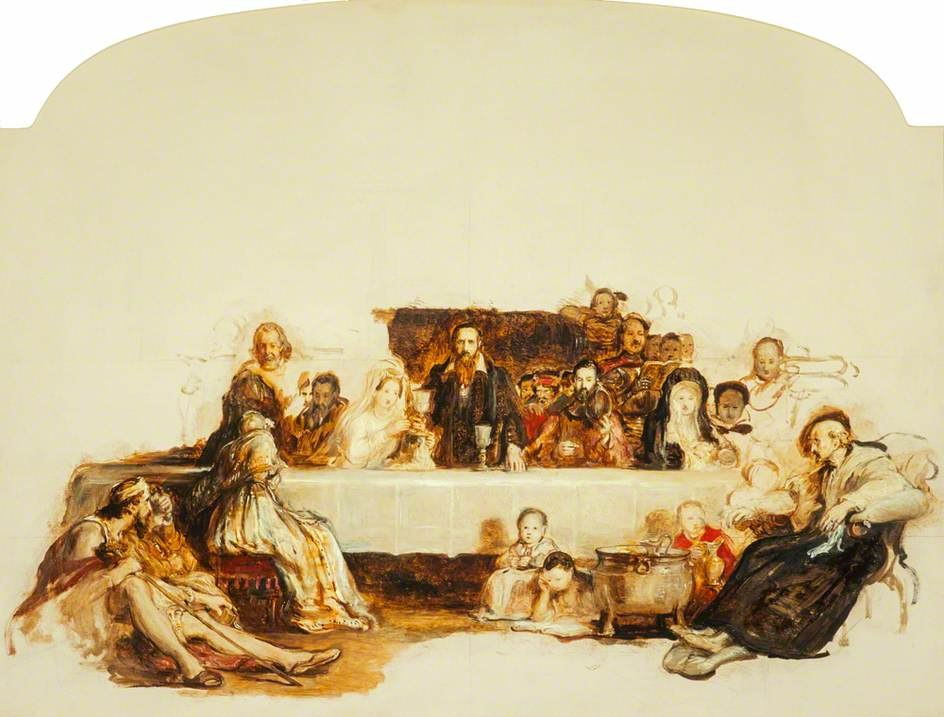 Study for 'John Knox Dispensing the Sacrament at Calder House' by David Wilkie