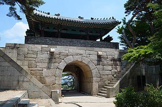 Sukjeongmun - Image: Sukjeongmun Gate, rear view, Seoul, Korea