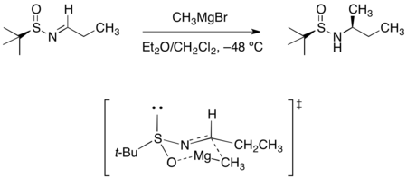 Sulfinyl aldimine grignard addition.png