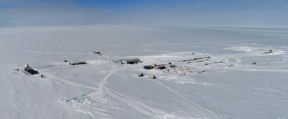 Summit Camp Greenland, overview, aerial photography